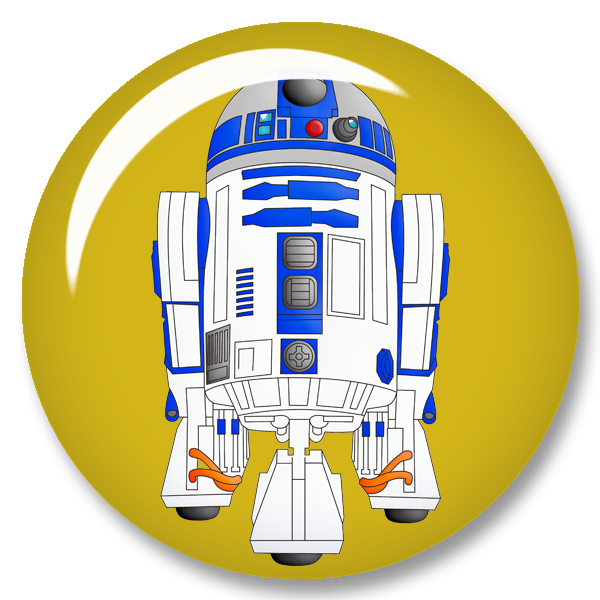 vector freeuse stock Star wars scrapbook kit. R2d2 clipart free printable