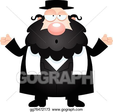 image free stock Vector stock confused cartoon. Rabbi clipart.