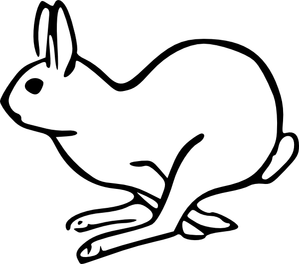 jpg royalty free Rabbit Running Clipart
