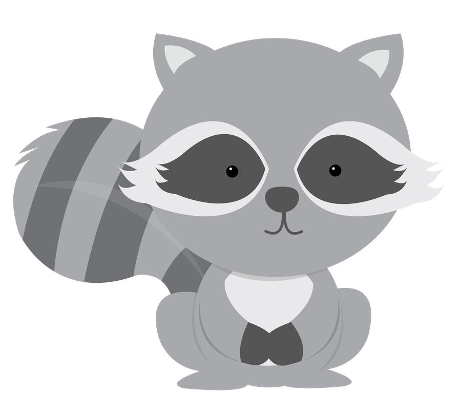 clip black and white stock Racoon clipart simple. Minus say hello children.