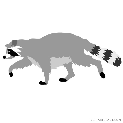 clip art royalty free download Raccoon clipartblack com animal. Racoon clipart.