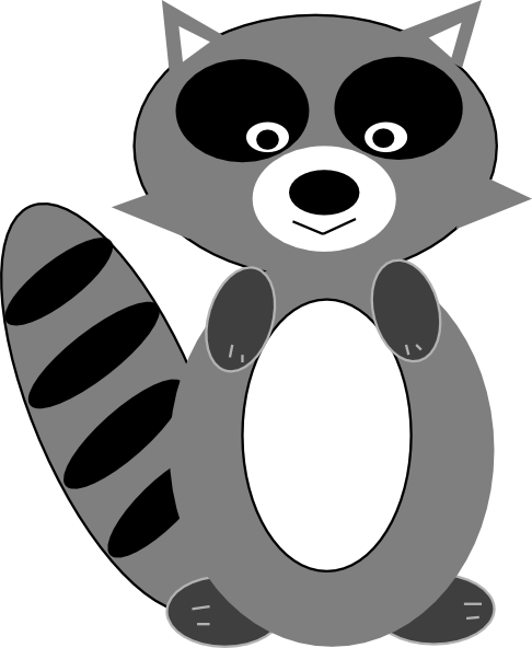 graphic freeuse library Racoon vector. Clip art raccoon at