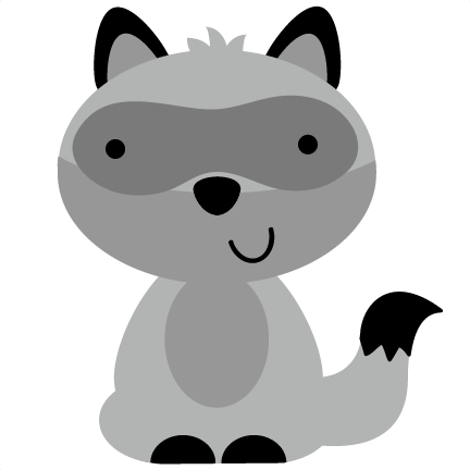 vector royalty free download raccoon reading clipart