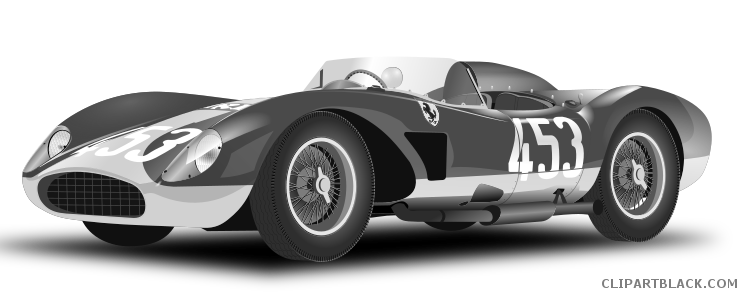 vector freeuse Transportation free images clipartblack. Race car black and white clipart