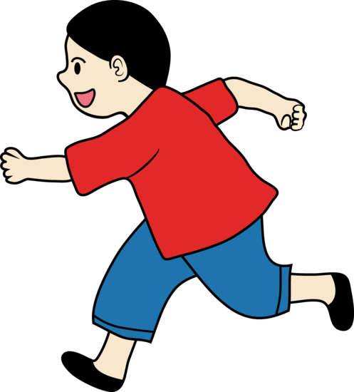 vector download Kids running outside clipart. Boy group of a
