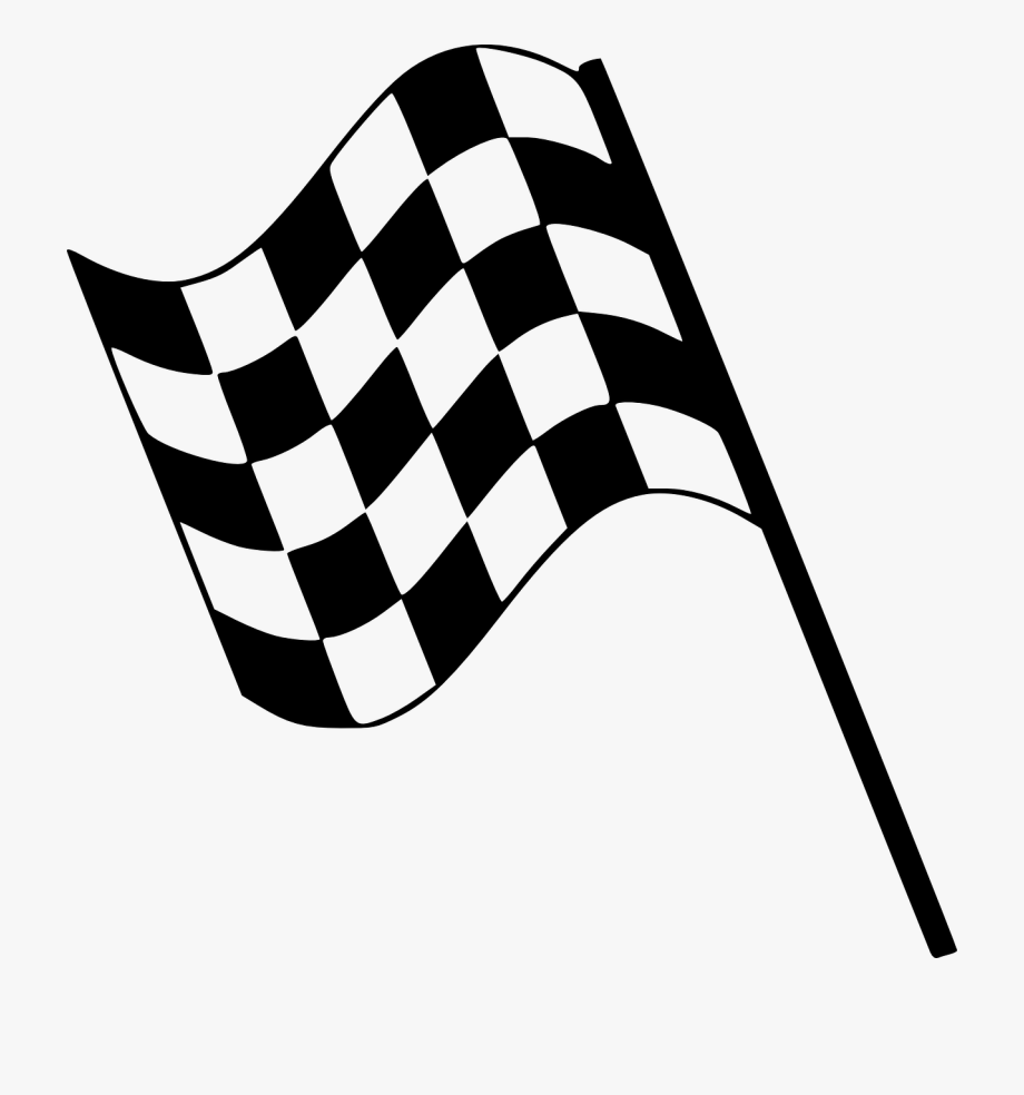 image black and white Info race flag free. Racing clipart.