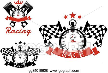 clip art Racing clipart motorsport. Vector icons templates with