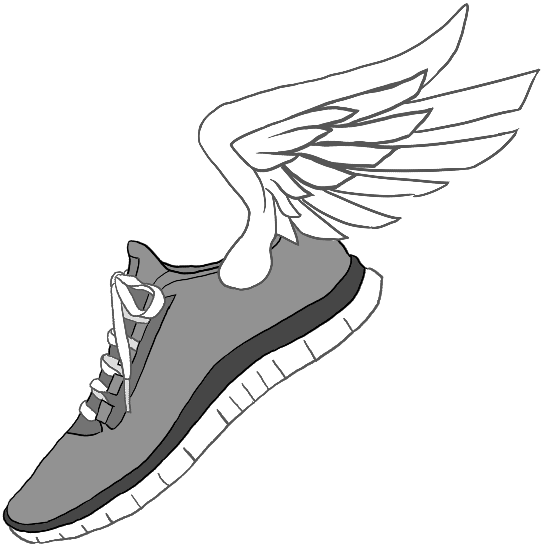 banner library stock sneakers clipart track shoe #83469935