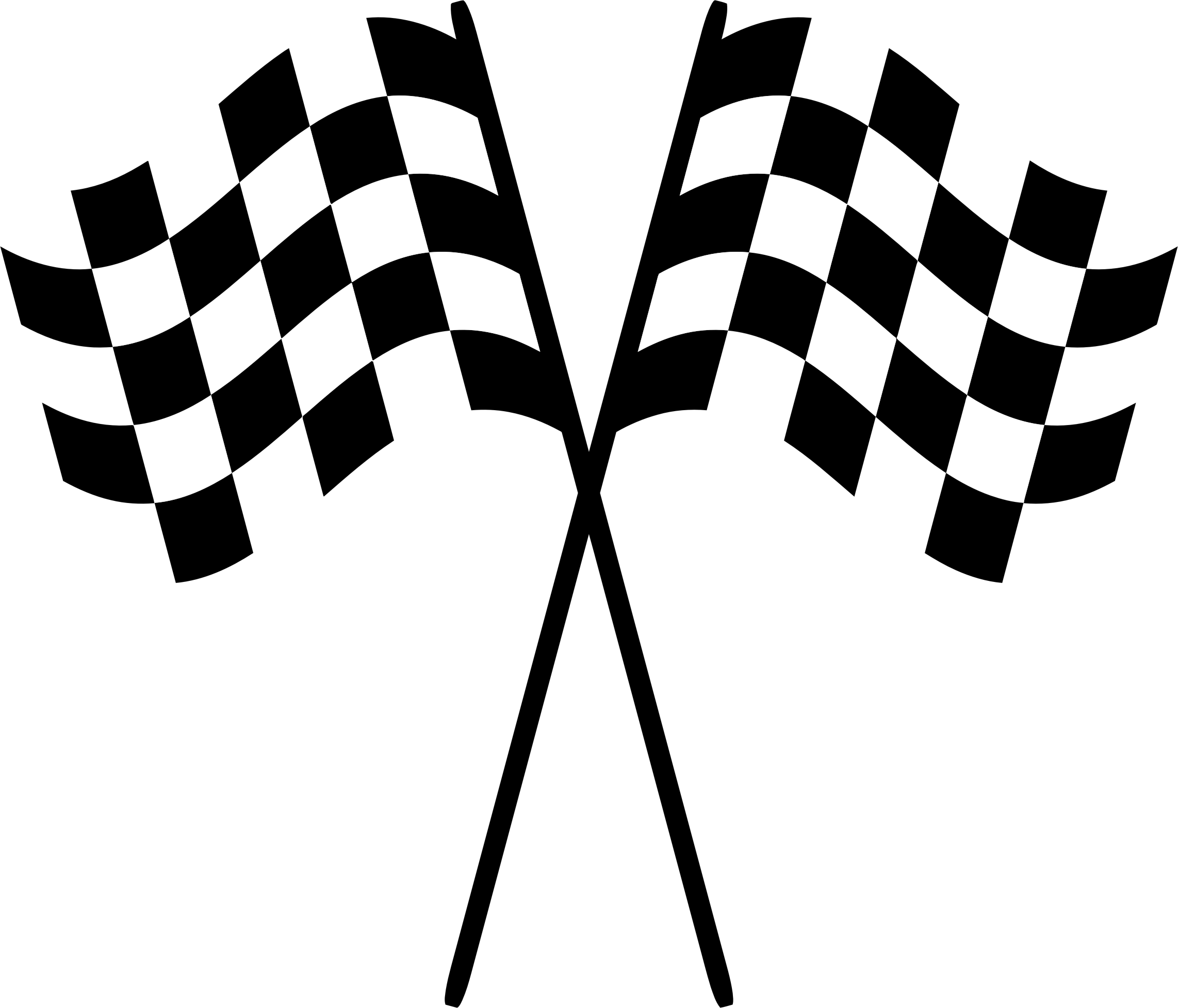clipart black and white library Checkered flags big image. Racing clipart.