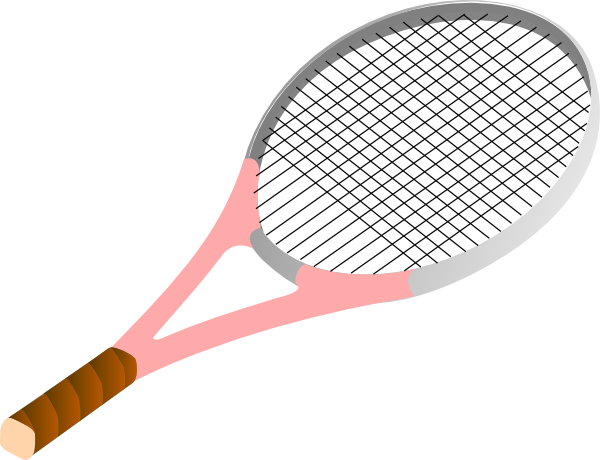 graphic black and white download Tennis rackets clipart. Racket pink clip art.
