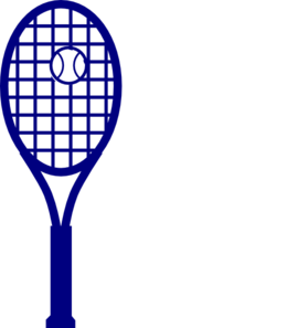 svg royalty free Blue Tennis Racket Clipart