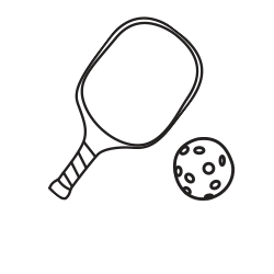 clip transparent library racket clipart pickleball #46598820