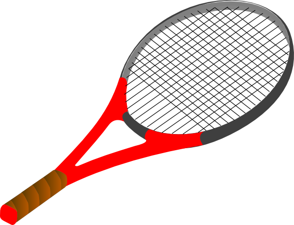 clip freeuse stock Red Tennis Racket Clip Art at Clker