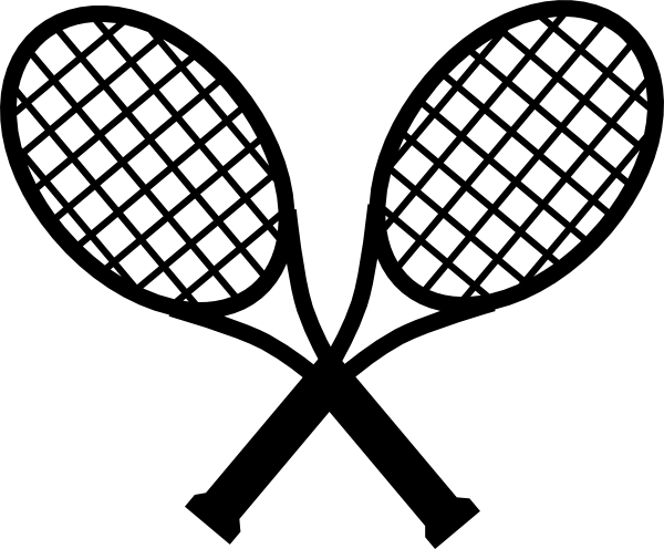 jpg transparent download Crossed rackets . Tennis racquet clipart