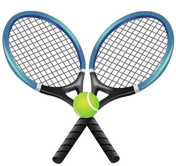 free library Clip art border free. Tennis rackets clipart.