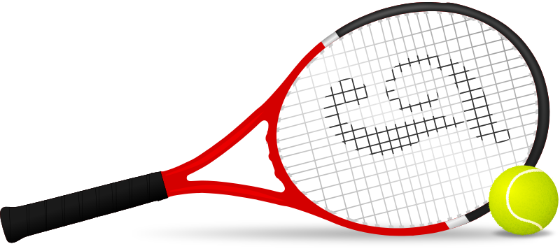 picture freeuse library Clipart tennis. Racket panda free images