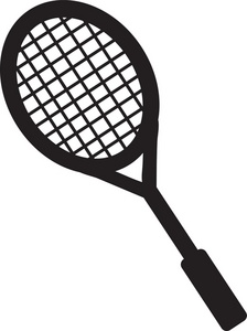 clipart black and white stock Free racket cliparts download. Tennis racquet clipart