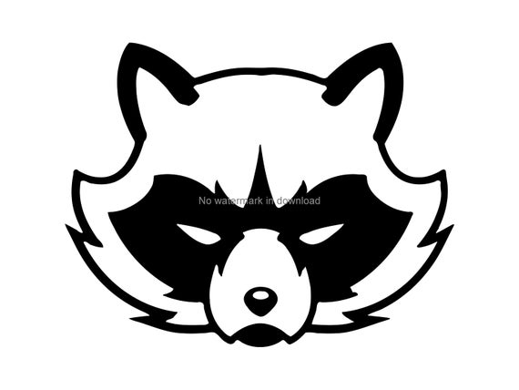 graphic freeuse library Racoon vector. Svg cut file image