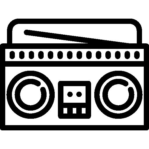 graphic royalty free stock Radio box icon . Boombox clipart vintage
