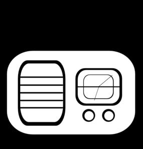 vector freeuse stock Radio clip. Art at clker com.