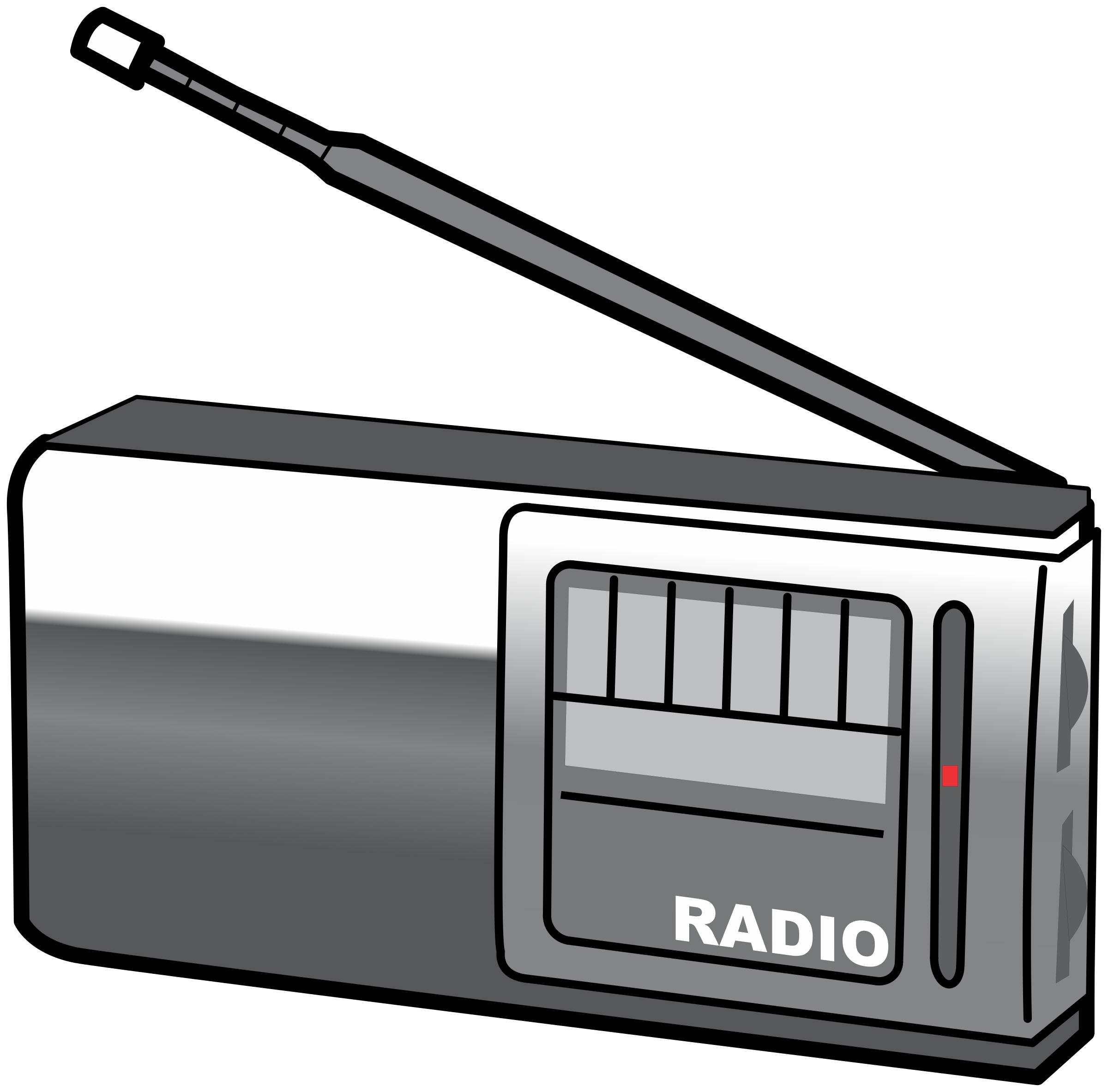 clip transparent library Radio clipart. Simple portable big image