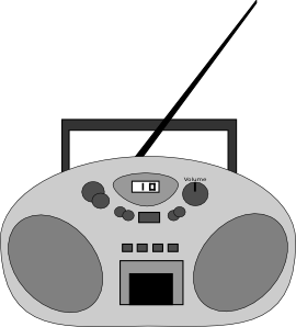 svg transparent library Radio clip art at. Boombox clipart draw something