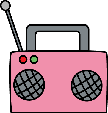 vector download . Boombox clipart pink radio