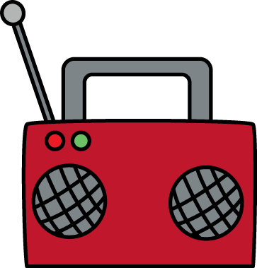 clip black and white library Boombox clipart pink radio.  collection of transparent