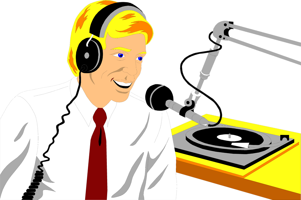 svg free library radio host clipart #66945052
