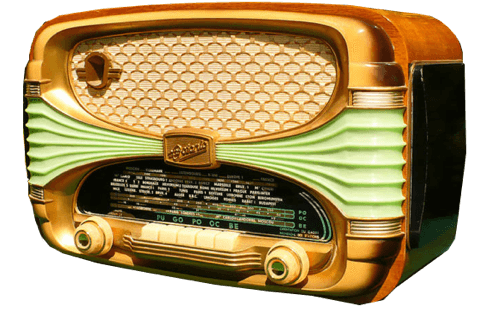 clip royalty free stock Radio transparent. Retro png stickpng download