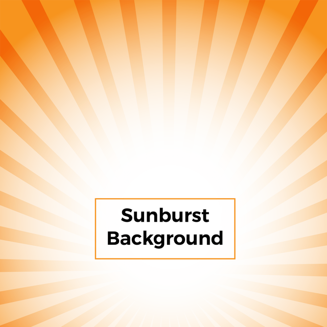 clip art free download Abstract sunburst background with. Vector color orange