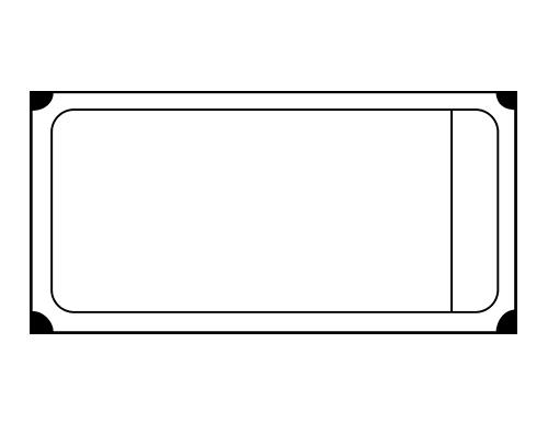 clip art transparent stock Large Raffle Ticket