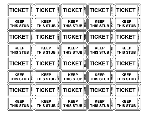 vector free stock free printable raffle tickets