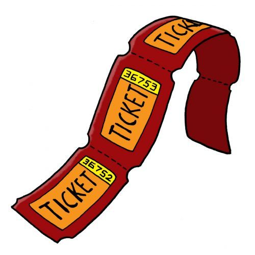 picture transparent library Arcade clipart roll ticket. Carnival raffle tickets image.