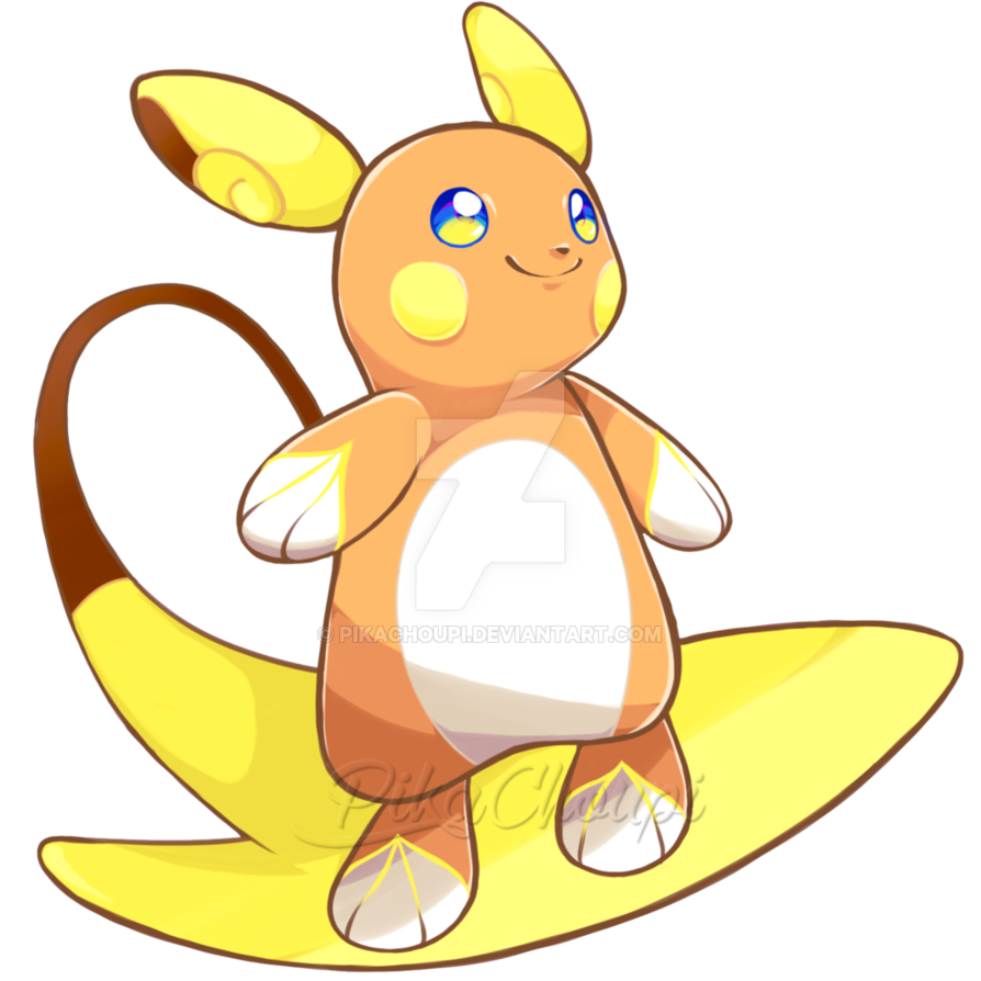 image free stock Raichu drawing. Alolan by pikachoupi on