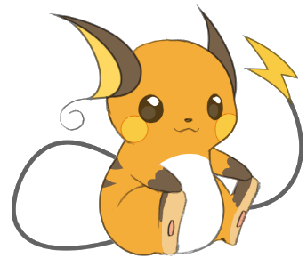 clip free download Cute png pokemon pinterest. Raichu drawing