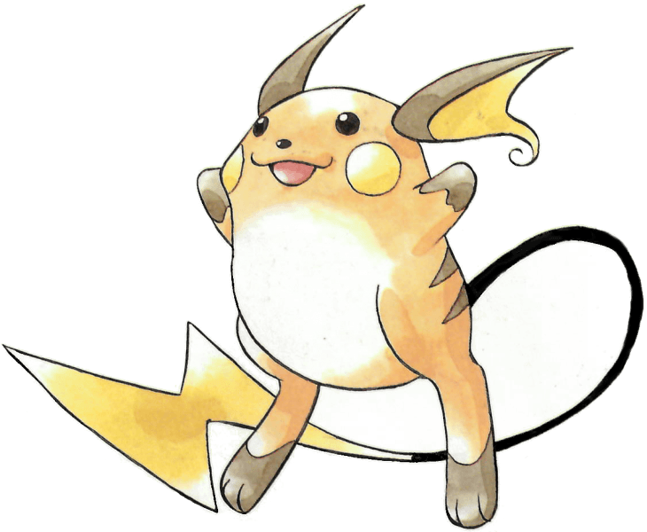 png black and white download Raichu from the official artwork set for