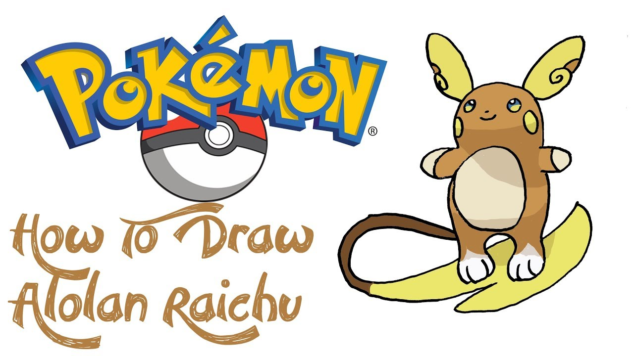 freeuse How to draw alolan. Raichu drawing lowland
