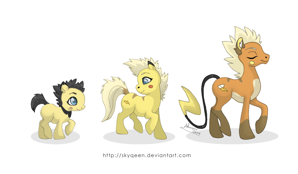 vector royalty free stock Thunder Family Ponikemon by Almairis on DeviantArt