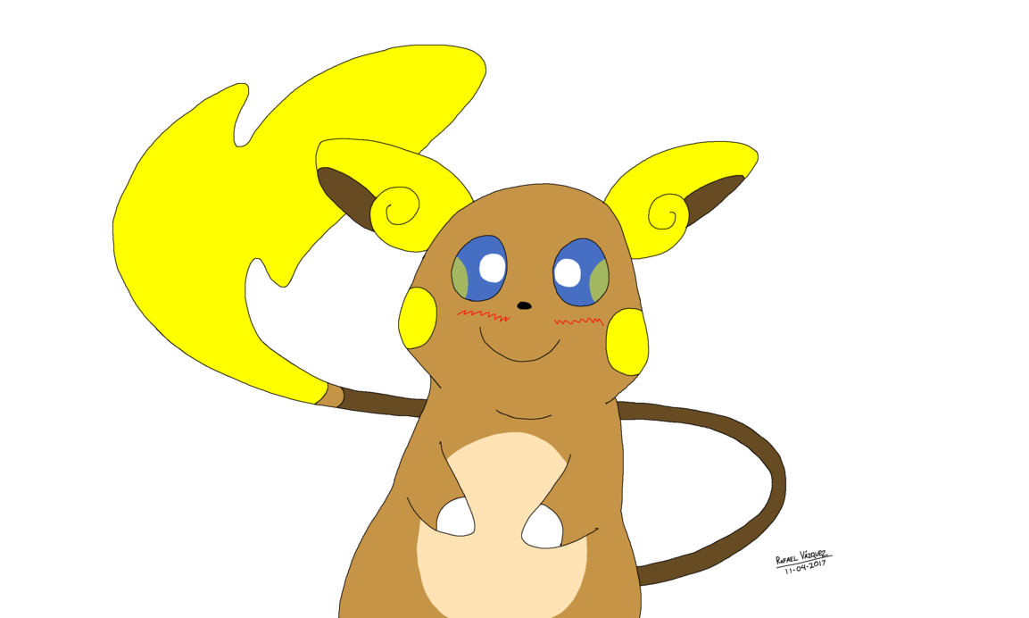 clip black and white download Alolan by rafaelgeorgearts on. Raichu drawing