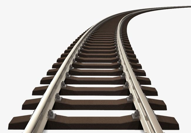 clip library stock Rail track railway png. Railroad clipart.