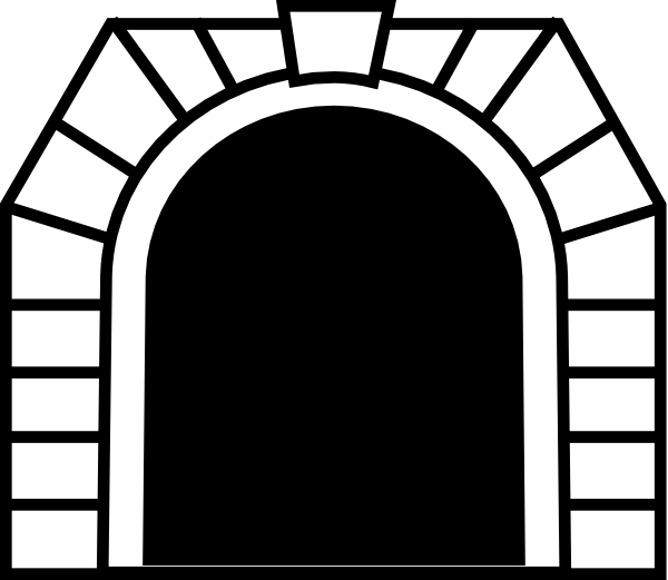 clip art black and white library Tunnel Clip Art at Clker