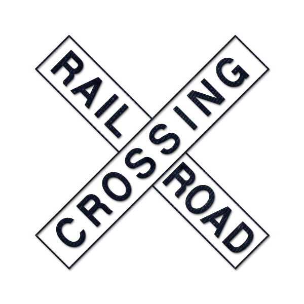 clipart freeuse stock railroad crossing sign clipart #66949533