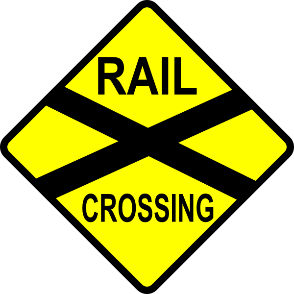 image free stock Caution Railroad Crossing Clip Art at Clker
