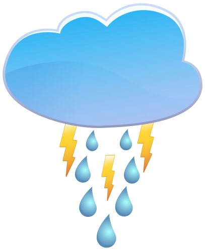 banner transparent library Cloud rain thunder icon. Weather clipart black and white