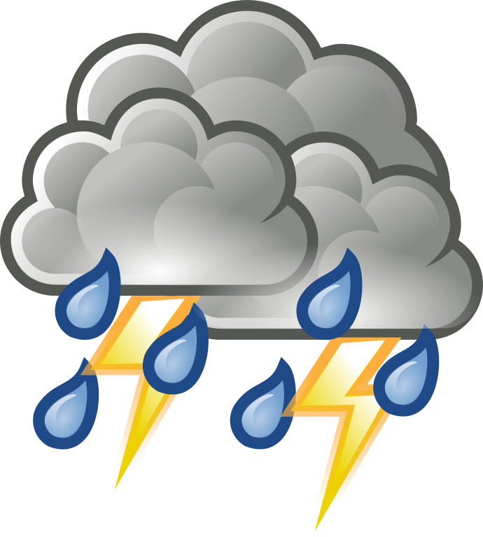 image library thunderstorm clipart weather #84852342
