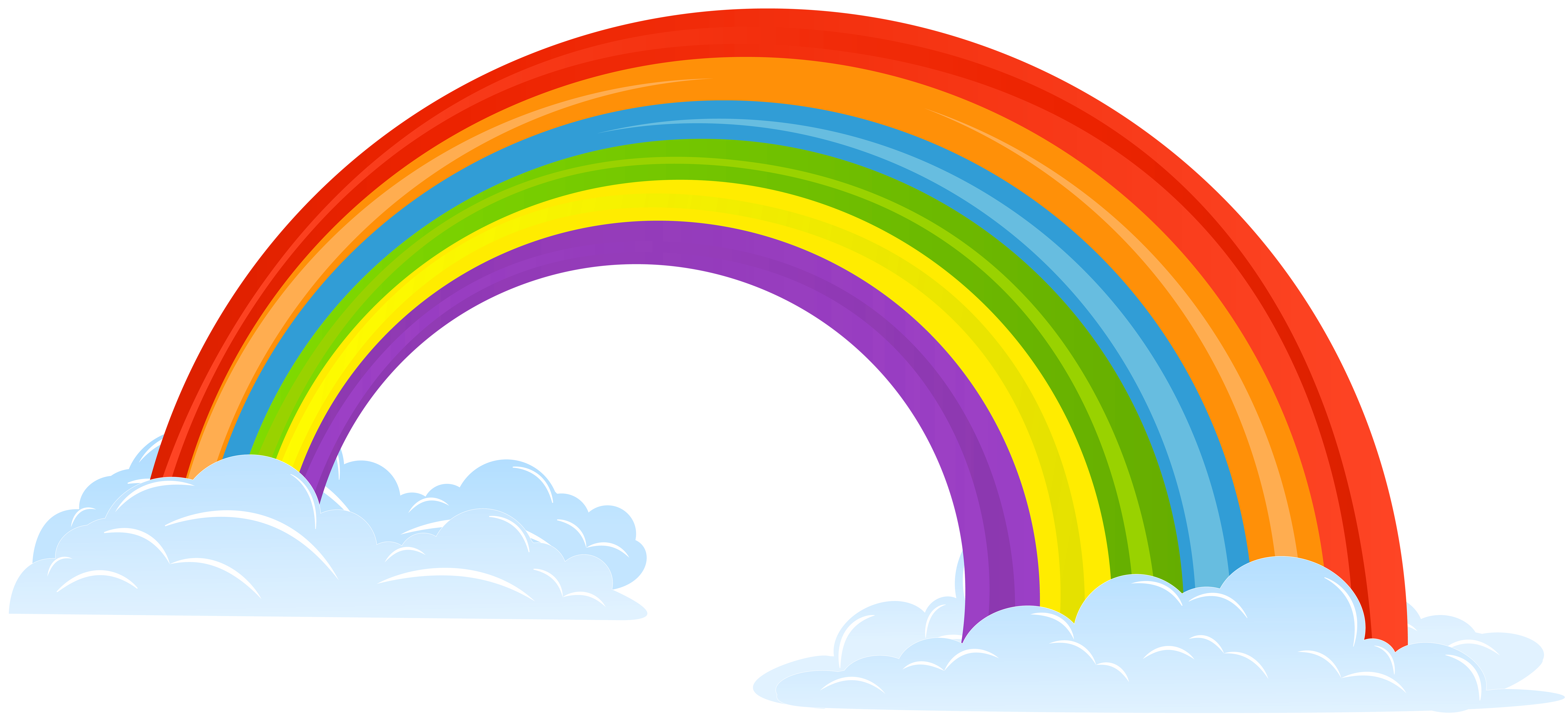 clip royalty free library Rainbow with Clouds Clip Art Image