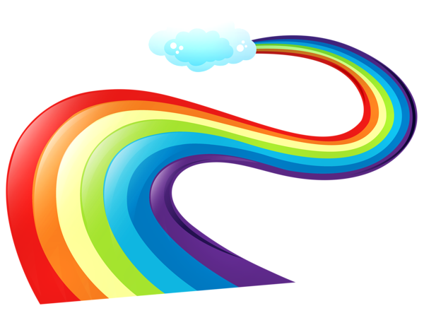 vector transparent stock rainbow banner clipart #57608246