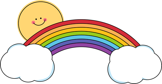 graphic stock Sun And Rainbow Clipart
