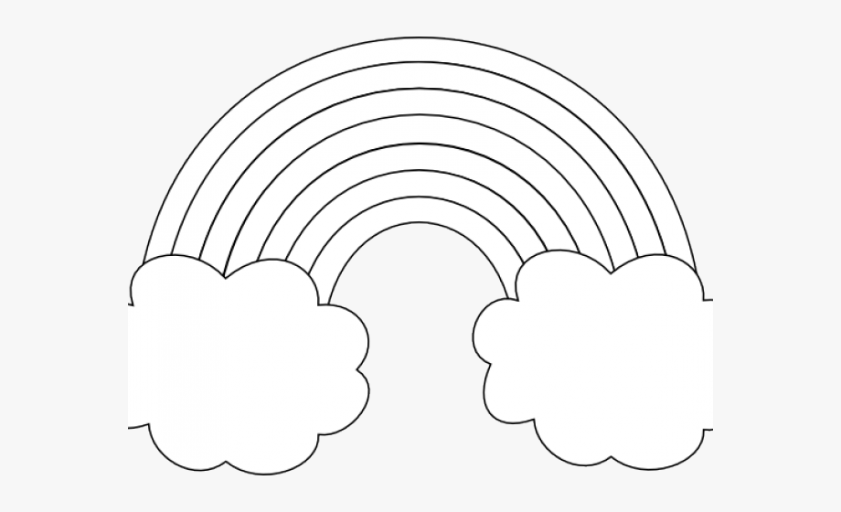 image freeuse library Rainbow clipart png . Drawing rainbows black and white